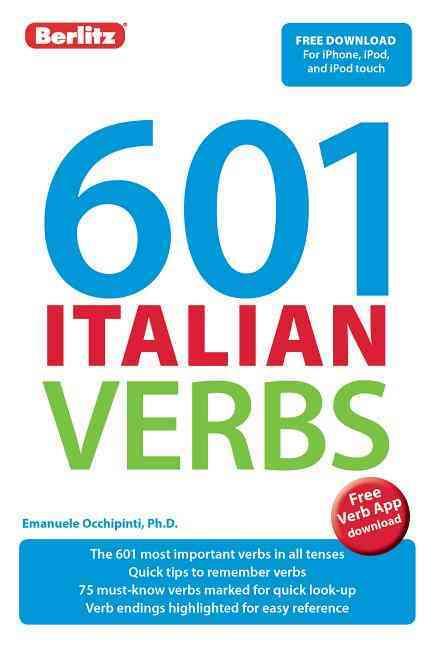 601 Italian Verbs By Berlitz International, Inc. (COR)